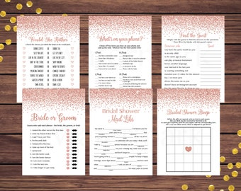 Bridal Bingo Bridal Shower Games Package 110 Printable Fiesta Bridal Shower Game Bundle What did the groom say Would She Rather