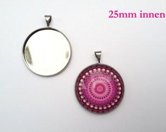6 pcs  gunmetal plated oval  pendant 34x21mm