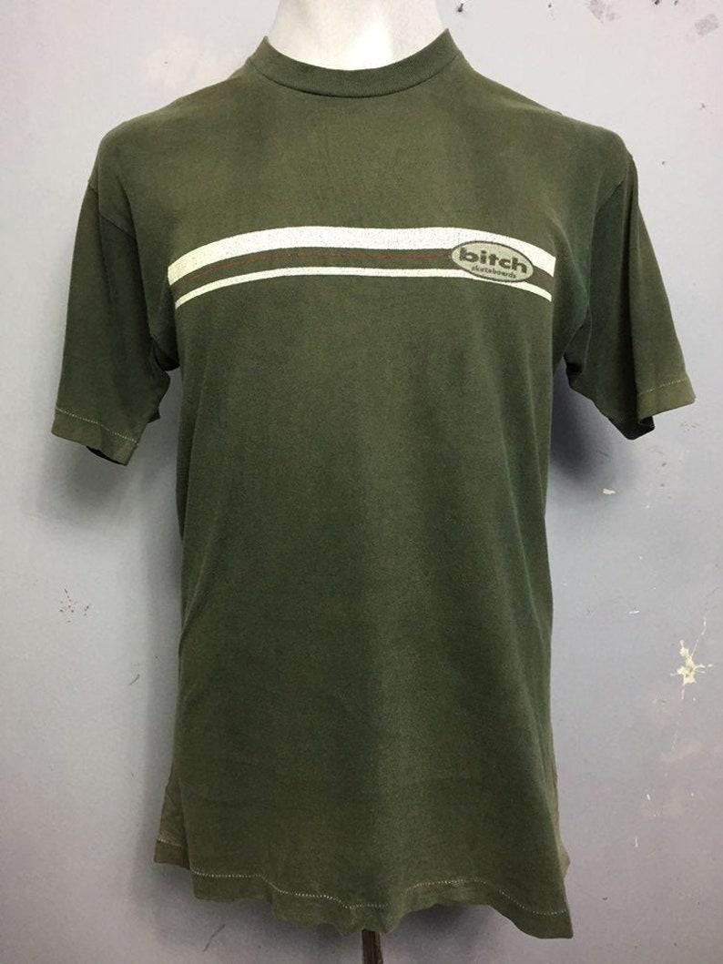 Vtg 90s Bitch Skateboard Streetwear Tshirt