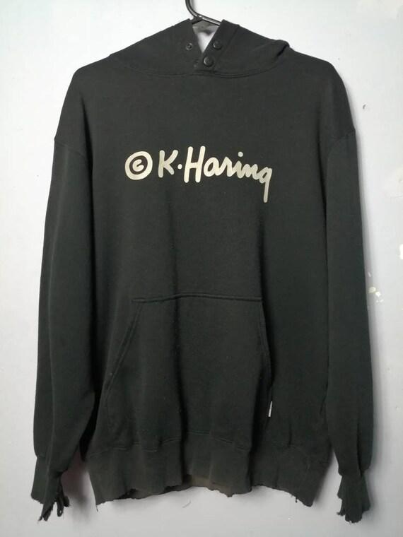Distressed Keith Haring Hoodie