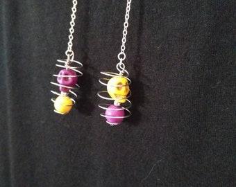 """Skulls """"Luck"""" earrings"""