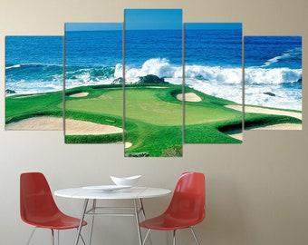 Golf schilderij etsy