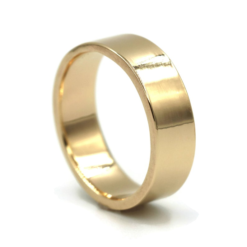 Wedding Band Men Gold Male Wedding Ring Mens Gold Ring Simple Etsy