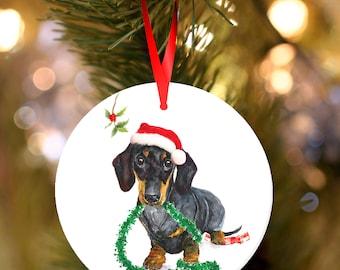 Christmas Dachshund Etsy