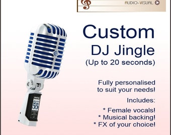 Customised DJ Jingle  DJ Drop Female vocals with FX  Up to | Etsy