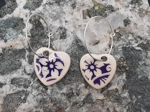 Floral Hoop Earrings
