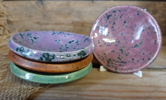 Circular Colourful Trinket Dish - Moorland Range
