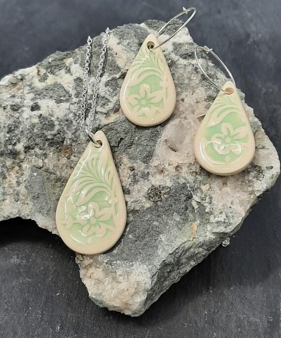 Teardrop Ceramic Jewellery Set