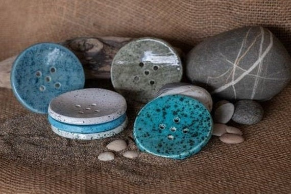 Circular Colourful Soap Dish - Beach Range