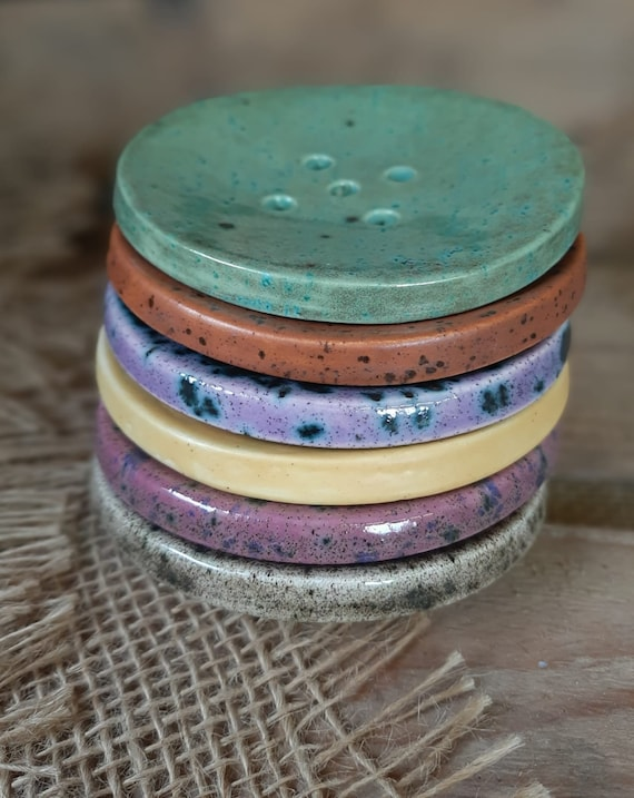 Circular Colourful Soap Dish - Moorland Range