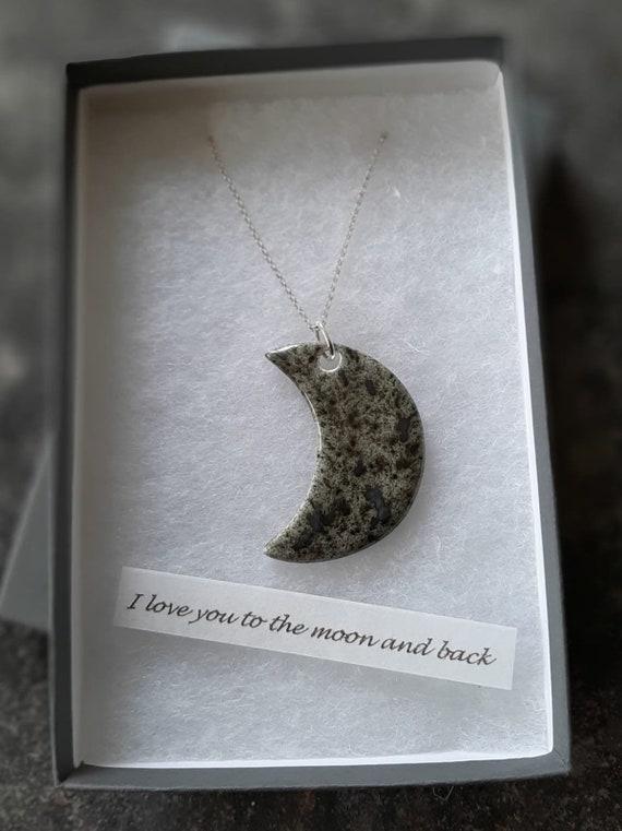 "Crescent Moon Pendant Necklace (30"")"