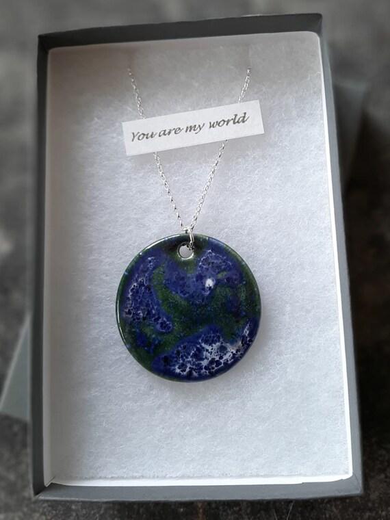 """Blue Planet Necklace (26"""")"""
