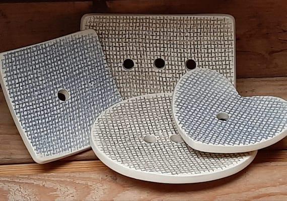 New - Burlap Embossed Soap Dish
