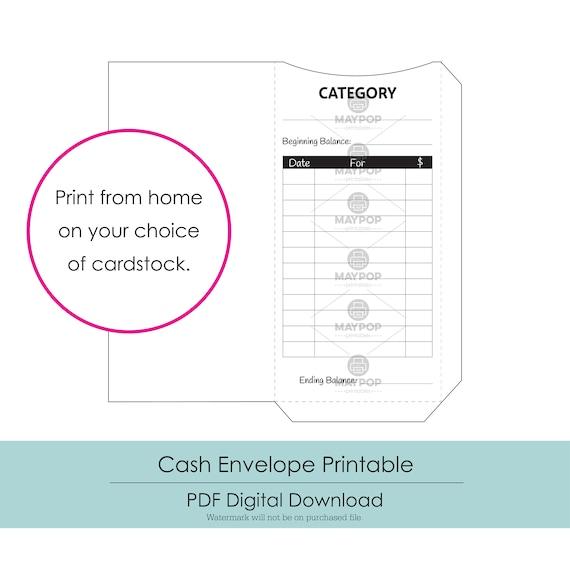 photograph regarding Cash Envelope Printable named Funds Envelopes Printable, Fast Obtain
