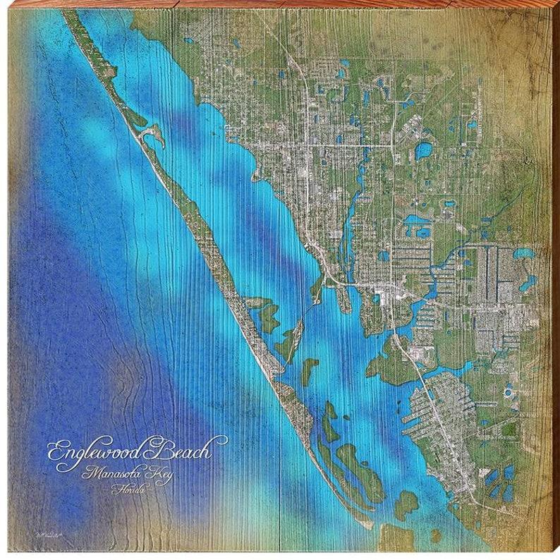 Englewood Beach & Manasota Key Florida Satellite Styled ...