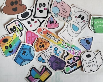 read to ship encouraging toddlers to go potty reward stickers Potty training stickers handmade potty stickers cute rainbow gender fluid