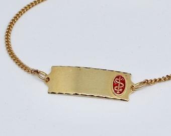 JEWELRY LIQUIDATION SALE Medic Emblem Gold Bracelet