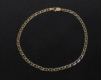 JEWELRY LIQUIDATION SALE 10Kt Gold, 9 inch Mariner Link Bracelet/Ankelet