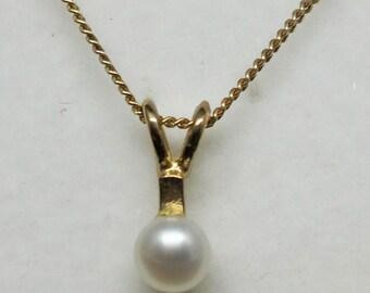 "JEWELRY LIQUIDATION SALE Genuine Diamond Pendant Necklace on 18"" Gold Curb Chain"