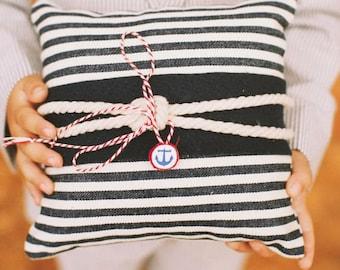 Striped Nautical Ring Bearer Pillow