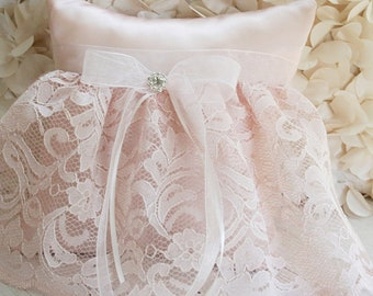 Pretty In Pink Ring Bearer Pillow