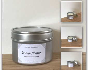 Orange Blossom 100% Soy Wax Candle