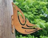 Rusty Metal Nuthatch - Steel Nuthatch Decoration - Rusty Bird - Wild Bird Art - Woodland Creatures - Fireplace Decoration - Mantelpiece Art