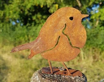 Rusty Metal Robin - Steel Robin Decoration - Rusty Bird - Wild Bird Art - Woodland Creatures  - Christmas Robin Garden Decor