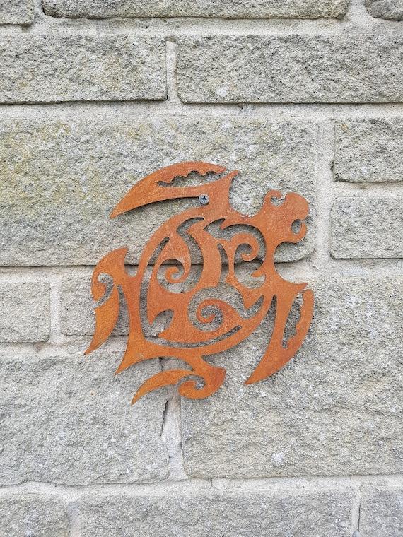 Ornements de métal rouillé tortue - Tribal - païen - jardin - Art - cadeau celtique - tortue - Art africain - australien - conception sud-ouest
