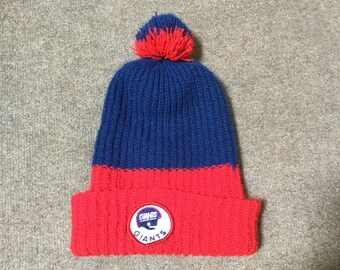 6cdcae90d9f Vintage Giants Football Beanie Knitted Ski Hat - One Size Fits All -  Excellent condition