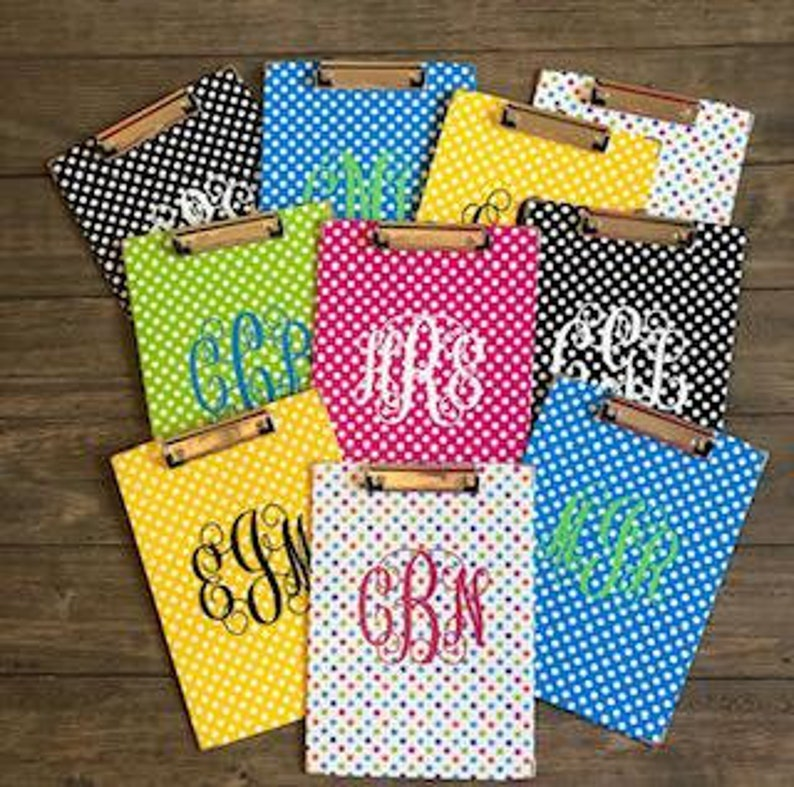 Custom Monogram lettering Vinyl Decal stickers for clipboards Custom decal for planner Custom name decal for journals Decal for notebooks