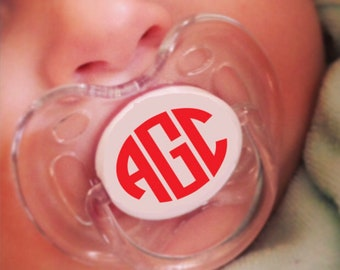 Pacifier Monograms, Avent Pacifier Monograms, MAM Pacifier Monograms, Binky Pacifier Monograms