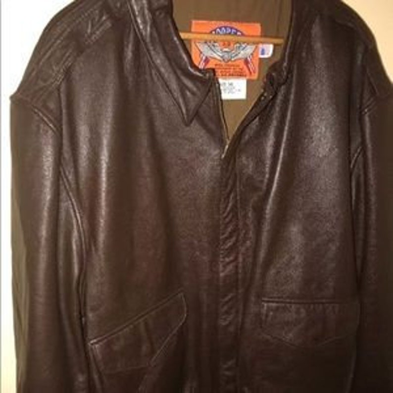 bf04ae107 Mens Leather Cooper A-2 US Air Force Goatskin Leather Bomber Jacket- Size  52 Long