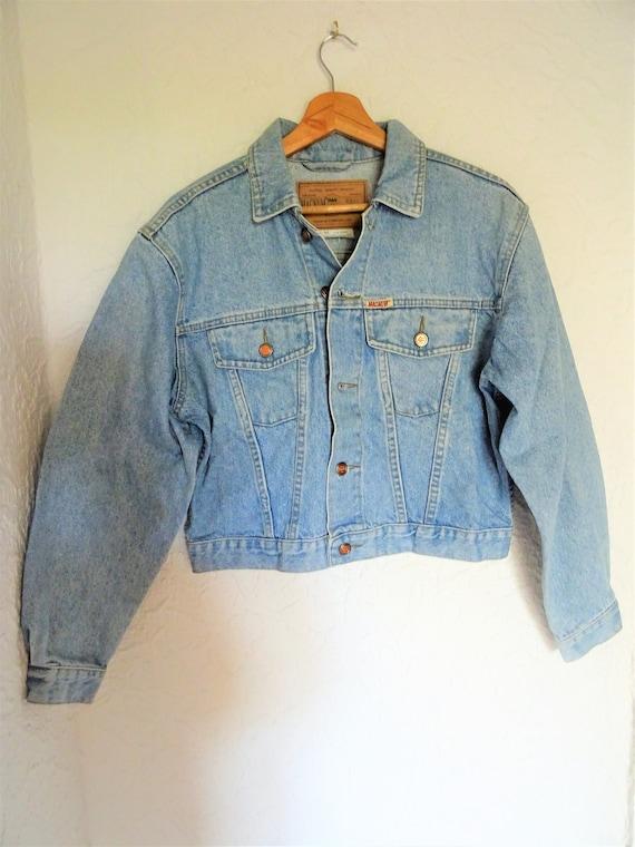 MAGNUM EKO JEANS Damen Jacke 80er True Vintage 80s Jacket women s Denim Size M