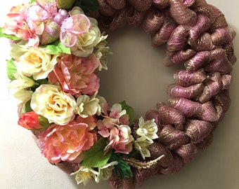"""Spring / Summer Wreath / Flowers, Bee - All """"A-Buzz"""" Spring"""