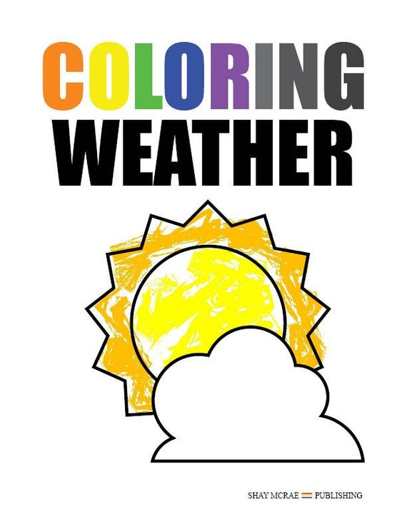 Coloring Weather (Printable Coloring Book)