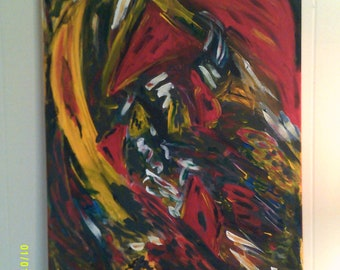 Acrylic Abstract Art 20x30 Original Painting on Stretched Canvas