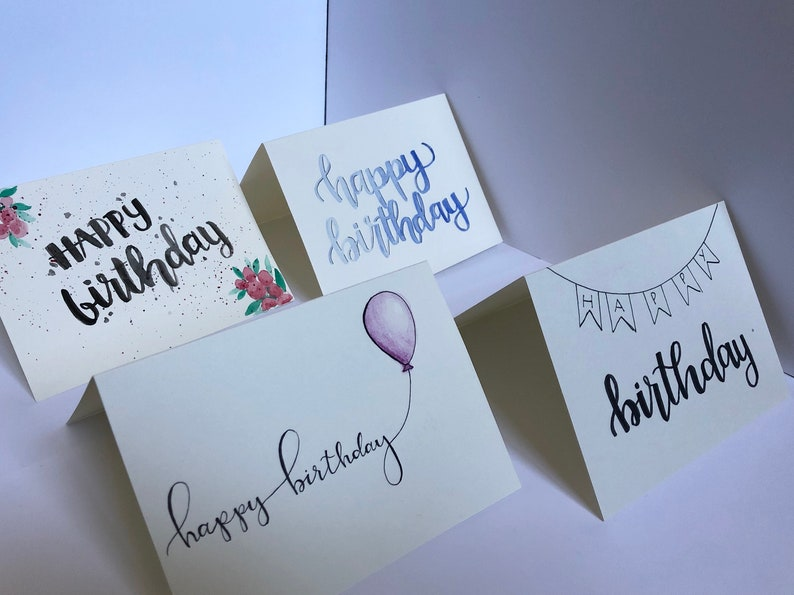 Birthday Cards Bundle Of 4 Each Come With An Envelope