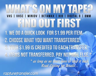Find Out First Tape Checking Service (Blank? or Worth Transferring)