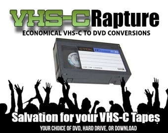 Transfer VHS-C Tapes to DVD or Movie File or Your Hard Drive