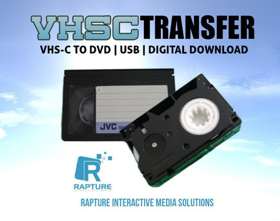 Small Vhs C Tapes Transferred To Digital Please Read Full Etsy