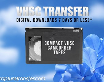 Small VHS-C Tapes Transferred to Digital  (Click Item Details and read carefully)