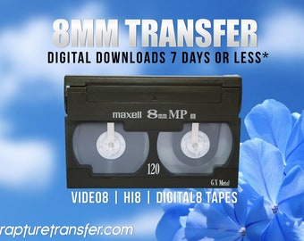 Video8 | Hi8 | Digital8 Video Transfers (Click Item Details and read carefully)