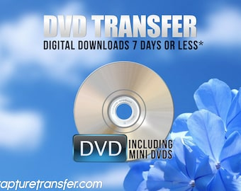 DVDs Transferred to Digital  (Click Item Details and read carefully)