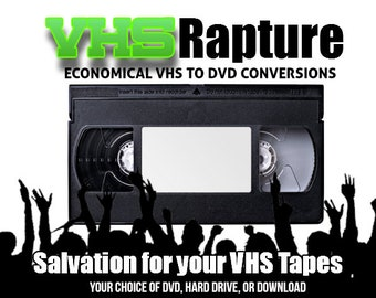 Transfer VHS Tapes to DVD or Movie File or Your Hard Drive