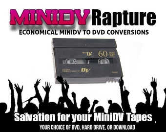 Transfer MiniDV Tapes to DVD or Movie File or Your Hard Drive