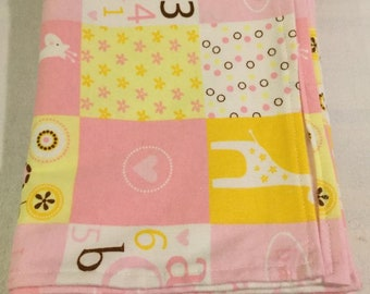 Baby girl Giraffe Little Cutie Swaddle Blanket