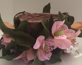 Flower Garland Basket