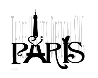 Paris Eiffel Tower Hearts SVG Images Ready To Use