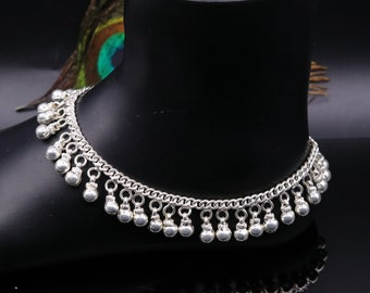 Anklet Adyar silver-plated with small bells